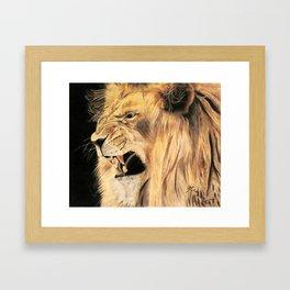 A Lion's Voice Framed Art Print