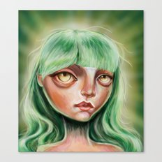 My Little Greenie Canvas Print