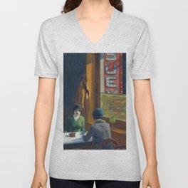 Chop Suey - Edward Hopper Unisex V-Neck