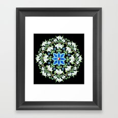 Folkloric Flower Crown Framed Art Print