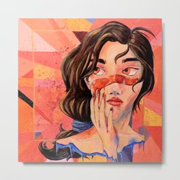 Painted Faces Metal Print