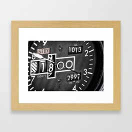 Altimeter Framed Art Print