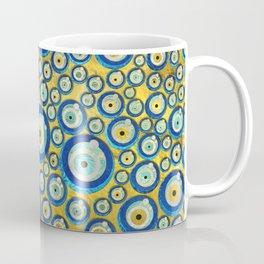 Greek Blue Glass Evil Eye Amulet Pattern Coffee Mug