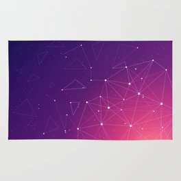 Space Constellation With Gradient Colors Background Rug