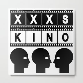 XXXS KINO HEAD FILMSTRIP Metal Print