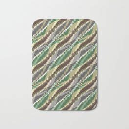 Abstract camouflage pattern. Bath Mat