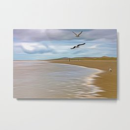 Run In the tide Metal Print
