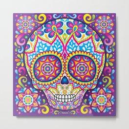 Sugar Skull (Simon) Metal Print