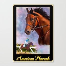 American Pharoah with Nameplate and Border Canvas Print