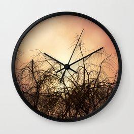 Red Skies Wall Clock