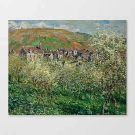 Plum Trees in Blossom Canvas Print
