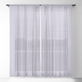 PPG Glidden Trending Colors of 2019 Wild Lilac Pastel Purple PPG1175-4 Solid Color Sheer Curtain