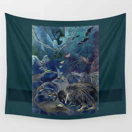 Kiwi, Bats, Morepork and More Wall Tapestry
