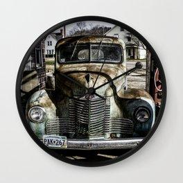 Vintage pickup truck Wall Clock