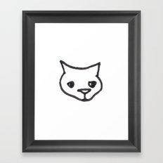Concerned Cat Framed Art Print