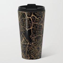 Black and gold Milan map, Italy Travel Mug