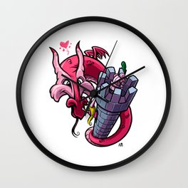 The Princess and the Dragon (and the poor knight...) Wall Clock
