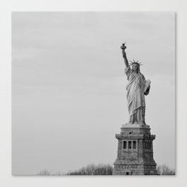 Lady Liberty Stands Canvas Print
