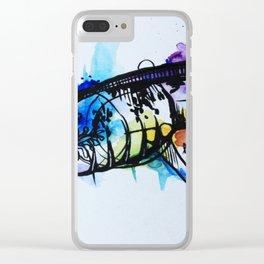 Rainbow Splash Axolotl Watercolour Clear iPhone Case