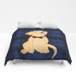 Best Friend Labrador Puppy In A Bow Tie Comforters