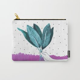 Hand Holding Flowers Carry-All Pouch