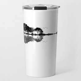 Acoustic Guitar Forest Nature Reflection Musician Travel Mug