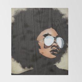 Venus Afro Throw Blanket