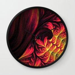 Fire Fractal Deep Life Wall Clock