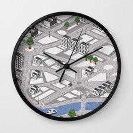 Map of city Wall Clock