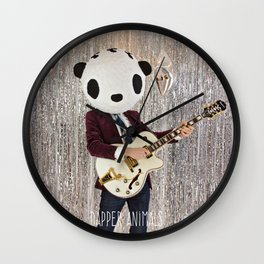 Peter Panda Rocking Out Wall Clock