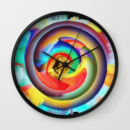 Citrin in Colours Wall Clock