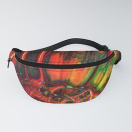 Orange Color Abstract Daisy Close Up Fanny Pack