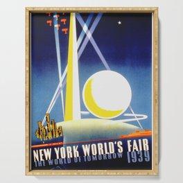 Vintage New York World's Fair 1939 Travel Serving Tray