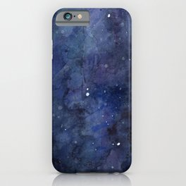 Night Sky Stars Galaxy | Watercolor Nebula iPhone Case