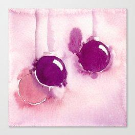 Trio of pink ornaments Canvas Print