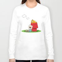 peanuts Long Sleeve T-shirts featuring Peanuts time by geminiska