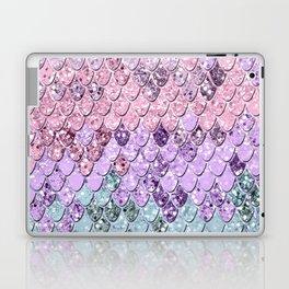 Mermaid Scales with Unicorn Girls Glitter #1 #shiny #pastel #decor #art #society6 Laptop & iPad Skin