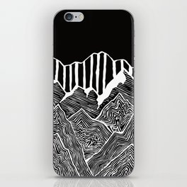 Geode Mountains Black and White iPhone Skin