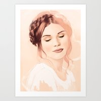 lydia martin Art Prints featuring Lydia Martin by Llama Escapes