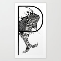Letter P Art Print
