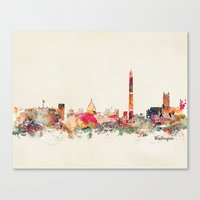 dc Canvas Prints featuring washington dc  by bri.buckley