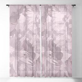 Just flowers 2 Sheer Curtain
