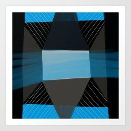 Blue Architecture 1 Art Print