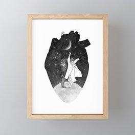 A dancing over our heart. Framed Mini Art Print