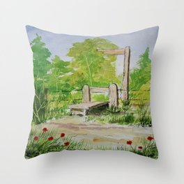 Country stile Throw Pillow