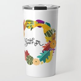 Gather Fall Wreath Travel Mug