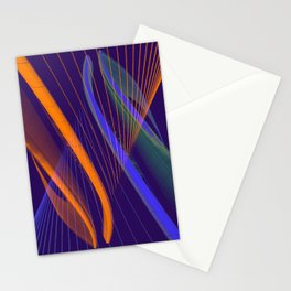curved lines in architecure Stationery Cards