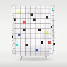 Crossword Puzzle #GraphicDesign #Minimalism Shower Curtain