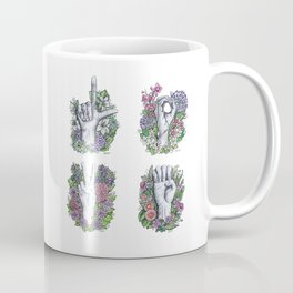 LOVE ASL Art- square version Coffee Mug