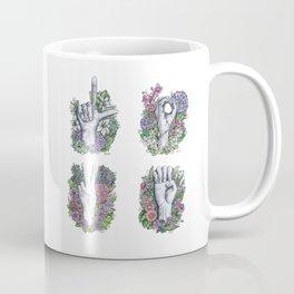 LOVE ASL Art- square version Coffee Mug